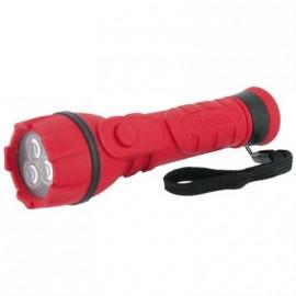CEGASA Lampe torche caoutchouc PM + 2 x AA/LR06-- 3 LED
