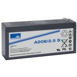 EXIDE Sonnenschein 8V - 2.5Ah - Dryfit A200 - Bac VO - A208/2.5 S