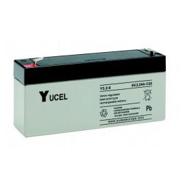 YUASA / YUCEL 6V - 3.2Ah - Y3.2-6 - AGM