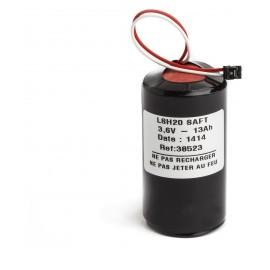 Pile Batterie Alarme Compatible LEGRAND 432 90 - D - LSH20 - 3,6V - 13,0Ah + Connecteur NOIR Centrale 432 14