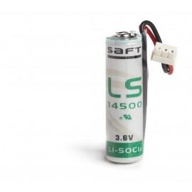 CHRONO Pile Batterie Alarme Compatible TECNOALARM - AA - 3.6V - 2300mAh + Connecteur