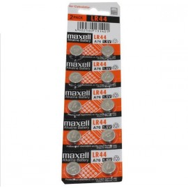MAXELL Pile Bouton Alcaline - LR44 - AG13 - LR1154 - A76 - Lot de 10