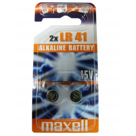 MAXELL Pile Bouton Alcaline - LR41 – 192 - LR736 - AG3 - Blister de 2