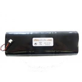 CHRONO Pile Batterie Alarme Compatible NOXALARM - 6LR20 Alcaline - 9V - 18Ah + Connecteur Blanc