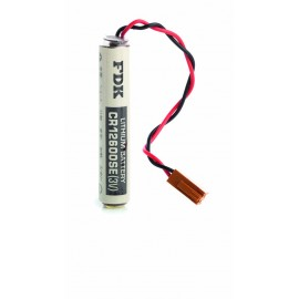 CHRONO Pile lithium CR12600 - 3V - 1500mAh + Connecteur