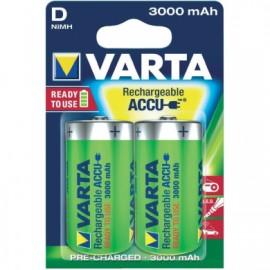 VARTA - Piles LR20D - rechargeables - 3000 mAh - Blister x2