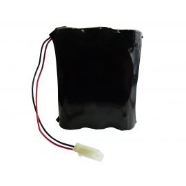 CHRONO Pile Batterie Alarme Compatible SILENTRON - 6LR20 Alcaline - 9V - 18Ah + Connecteur