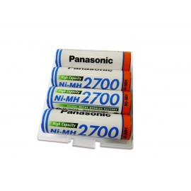PANASONIC Pile NiMh rechargeable - HR6 - 1.2V 2700mah - Blister x 4