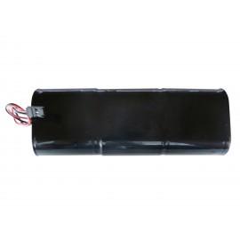 CHRONO Pile Batterie Alarme Compatible NOXALARM - 6LR20 Alcaline - 9V - 18Ah + Connecteur Noir