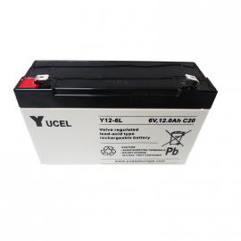YUASA / YUCEL Batterie plomb - AGM - Y12-6L - 6V, 12Ah